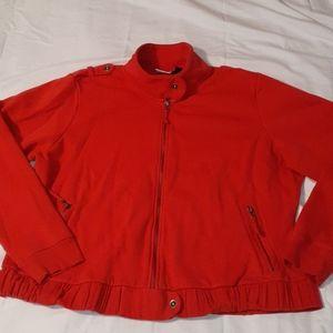 Harley Davidson Ladies Red Jacket w/Epaulets 3x